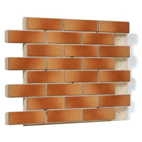 Клинкерная термопанель фасадная Регент, плитка Paradyz, цвет Aquarius Beige, толщина 60 мм