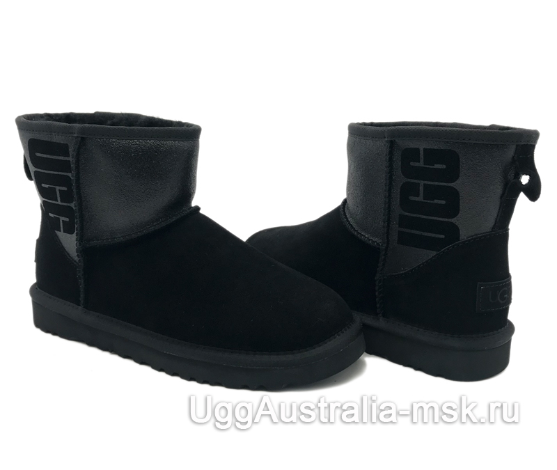 UGG Classic Mini Sparkle Boot Black