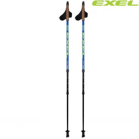 Скандинавские палки Exel Nordic Trainer OEB Adj X3 Carbon 50% Finland