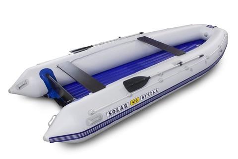 Надувная ПВХ-лодка Солар - 470 Strela Jet Tunnel (светло-серый)