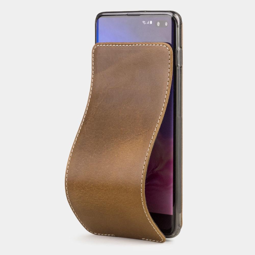 Чехол для Samsung Galaxy S10 из натуральной кожи теленка, цвета винтаж