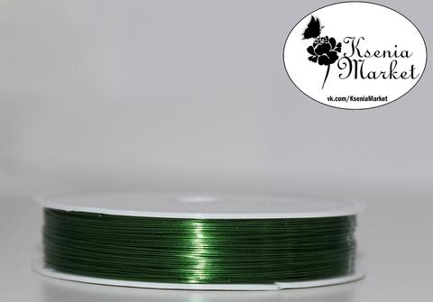 Проволока 0,3мм 25метров зелёная