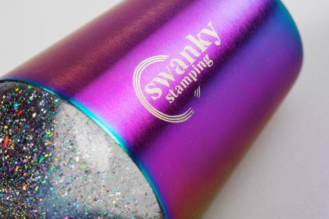 Штамп Swanky Stamping, силиконовый, с блестками, 3,5 см