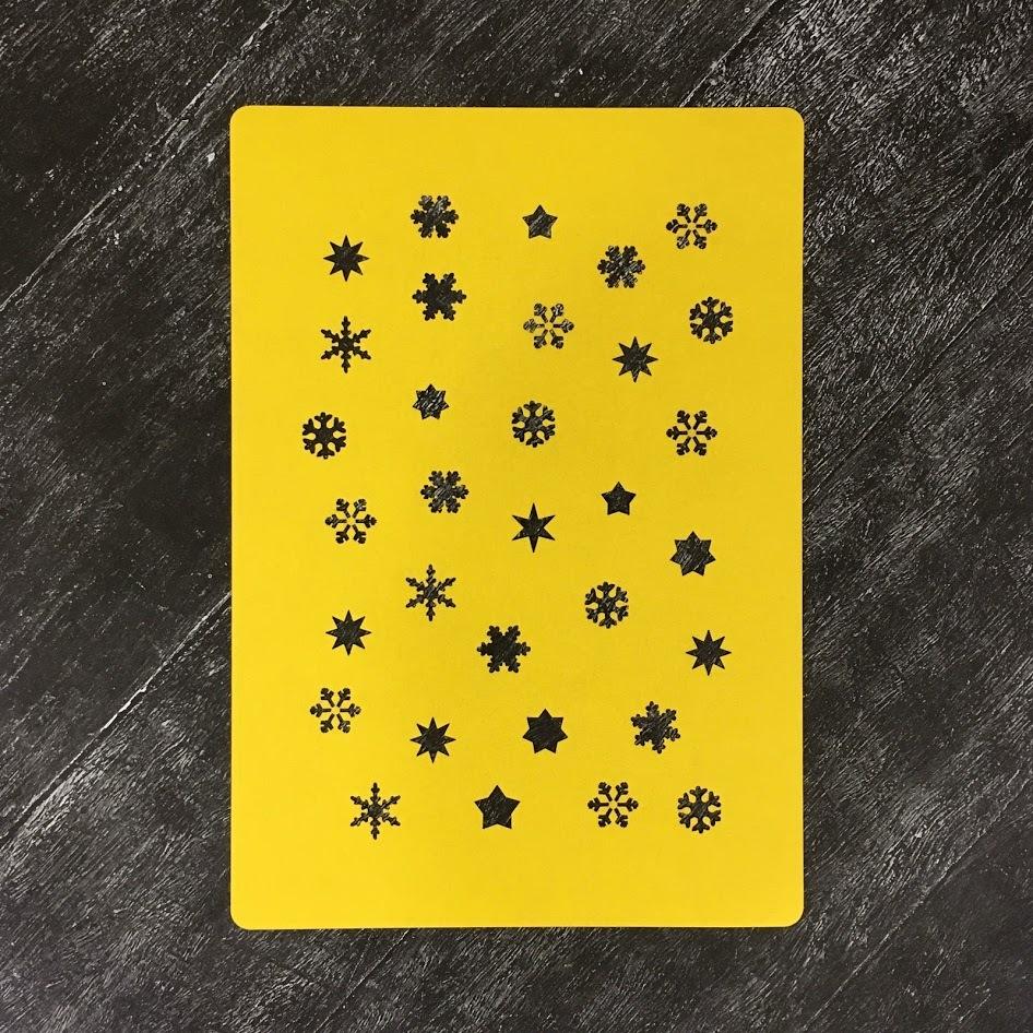 Трафарет новогодний №3 Маленькие снежинки