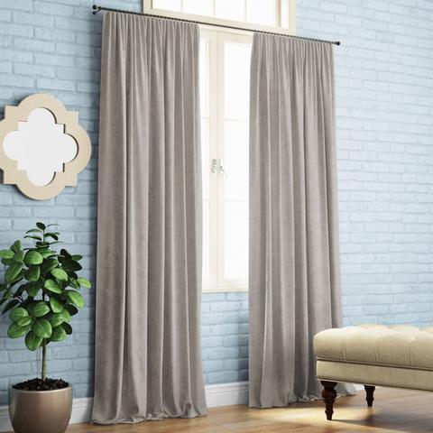 Комплект штор с подхватами Кира светло-серый