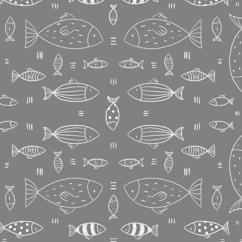 Рыбки сканди (серый фон)