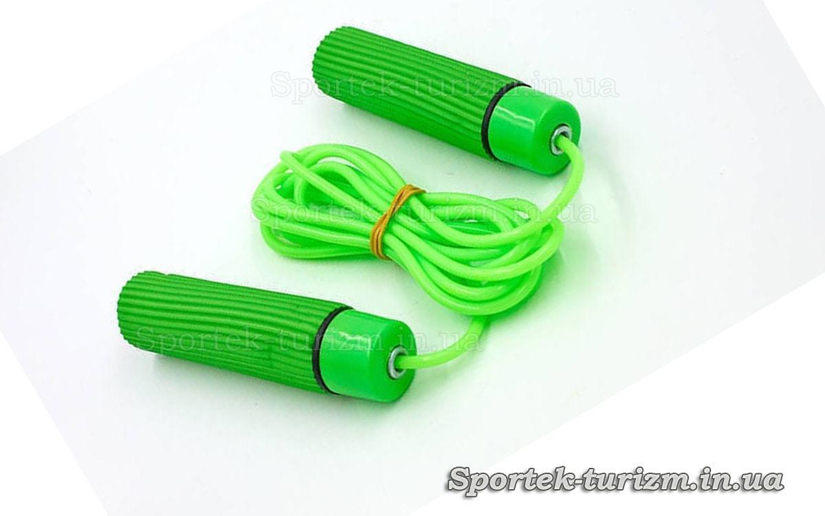 Скакалка с подшипниками и шнуром 2,7 м Zelart FI-5108 зеленая