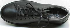 Спортивные мужские туфли кроссовки натуральная кожа демисезонные Ikoc 1725-1 Black.