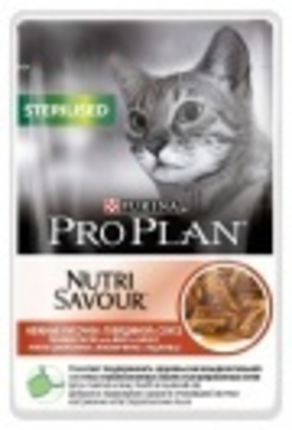 Pro Plan Sterilised - для стерилизованных кошек кусочки в соусе, с говядиной 85г.