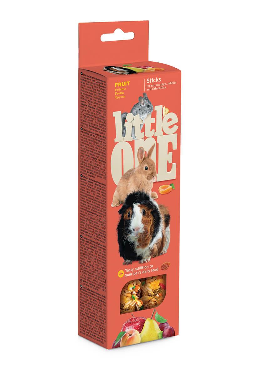 Лакомства Палочки Little One для морских свинок, кроликов, шиншилл с фруктами (2х55 гр) Sticks_fruit.jpg
