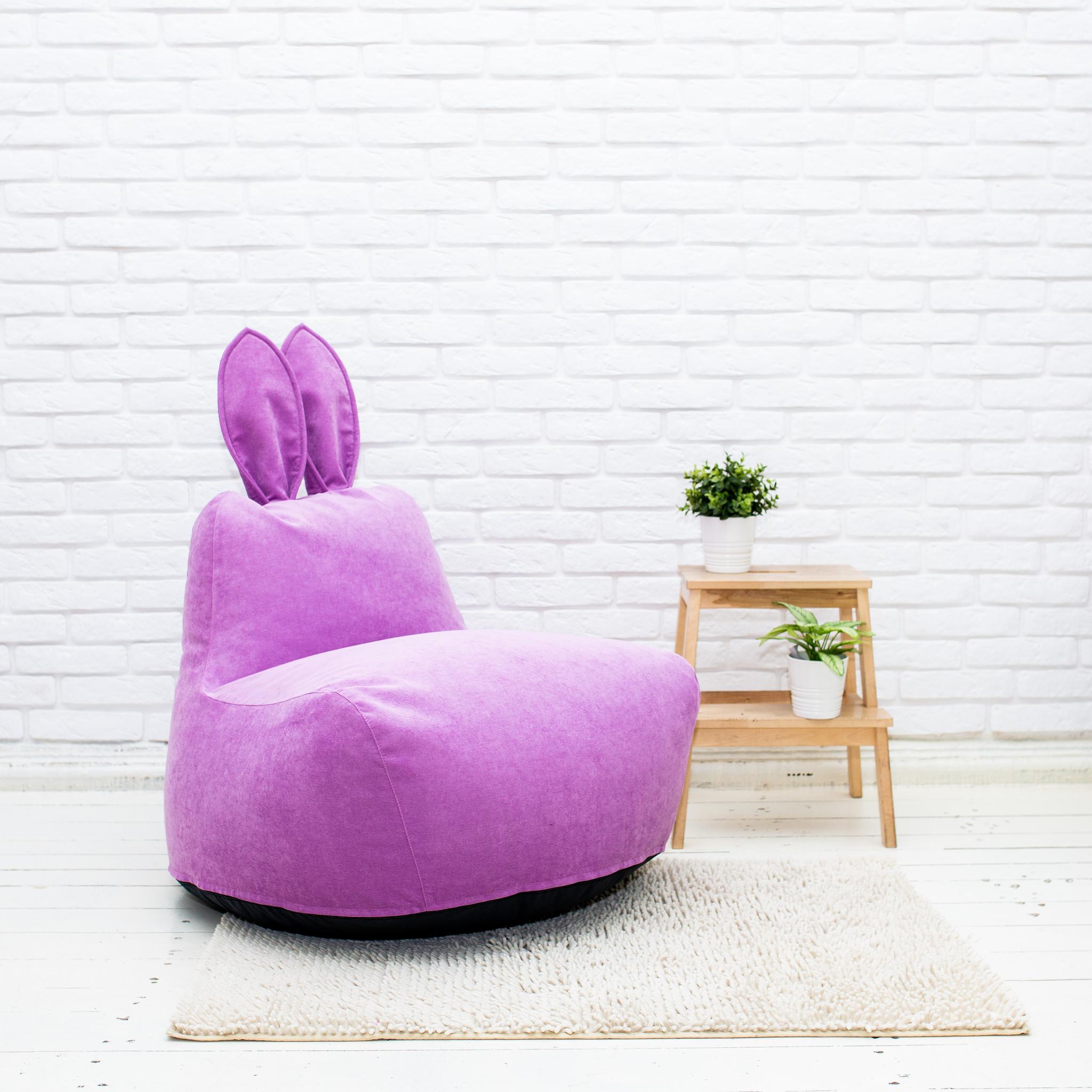 Кролик M тканевый (сиреневый)