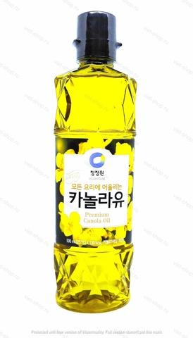Масло каноловое рафинированное, Корея. 500 мл