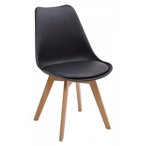 СТУЛЬЯ ABASK BLACK Черный / ножки дерево / сиденье пластик, 2 шт.
