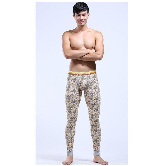 Мужские кальсоны с узором бежевые Cockon MAN pants Begie23714