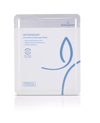 Омолаживающая гидрогелевая маска от морщин с антиоксидантной защитой BeauuGreen Antioxidant Glutathione Hydrogel Mask