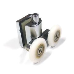 Ролик для душевой кабины М-07-А 26 мм. Монтаж нижний. Полиуретановый ролик закрытый подшипник. Регулировка пружиной.