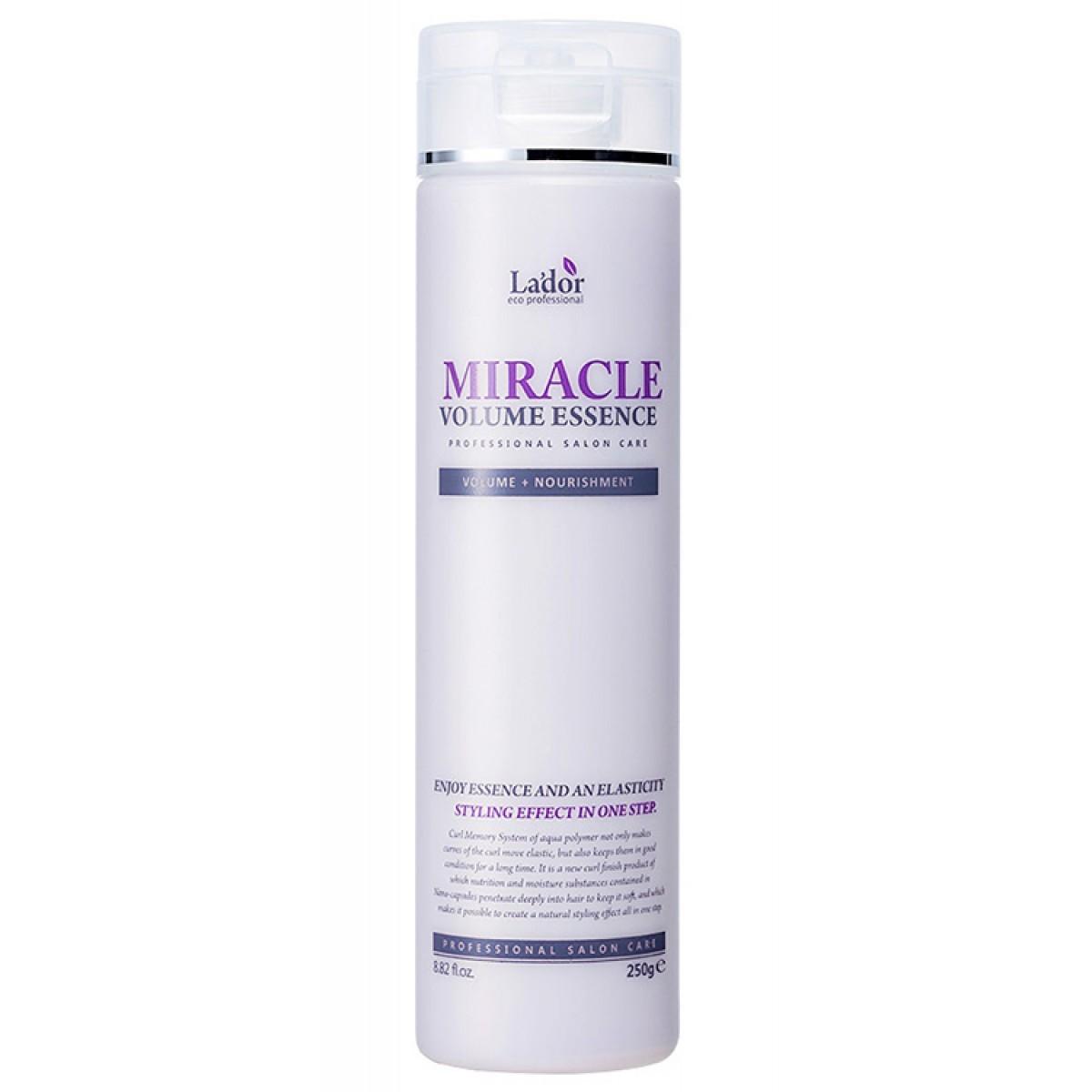 Ессенция для волос Эссенция для волос увлажняющая для фиксации и объема волос Miracle Volume Essence 250g uvlagnyayuschaya-essentsiya-dlya-fiksatsii-i-obaema-volos-lador-miracle-volume-essence-250ml-880.jpg