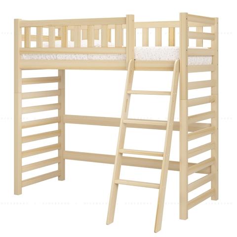 Кровать-чердак из массива дерева для подростка Relax - базовая комплектация