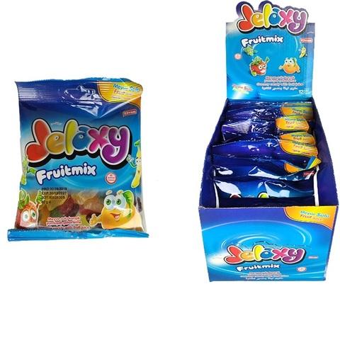 'Jelaxy Fruitmix  Жевательный мармелад с фруктовым соком в ассортименте 1кор*6бл*12шт,80гр