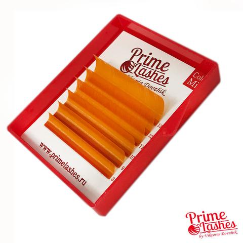 Ресницы Prime Lashes оранжевые, микс 6 линий