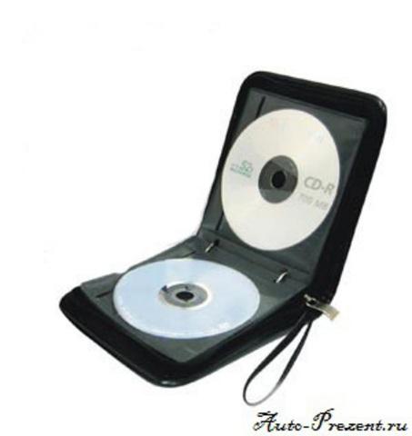 Портмоне для cd, dvd дисков с логотипом DAEWOO