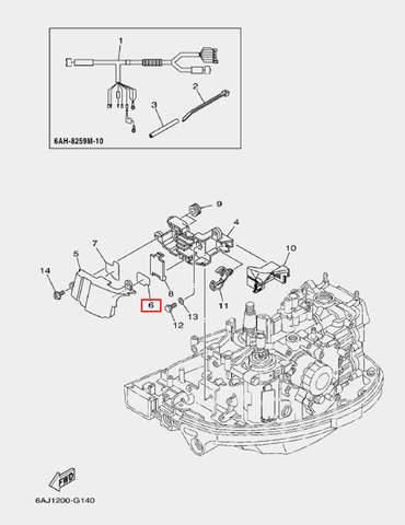 Защита кожуха для лодочного мотора F20 Sea-PRO (14-6)