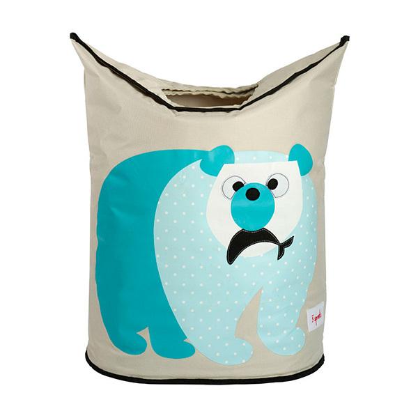 Корзина для белья 3 Sprouts Полярный медведь (синий)