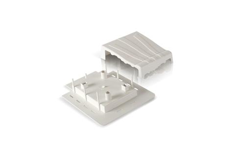 Фасадный декор Доломит - Декоративная заглушка Белая