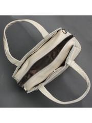 Бежевая сумка из натуральной кожи