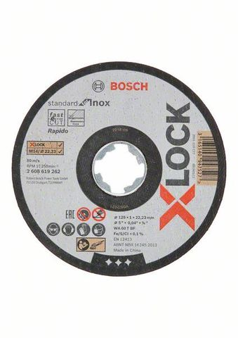 Отрезной диск X-LOCK Standard for Inox 125x1x22.2 мм