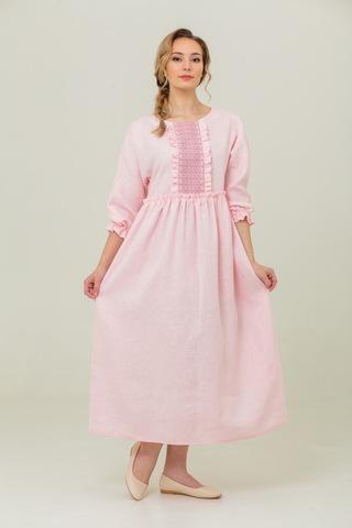 платье льняное Цветущий миндаль