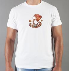 Футболка с принтом Знаки Зодиака, Водолей (Гороскоп, horoscope) белая 0022