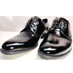 Лакированные туфли мужские кожаные классические Ikoc 2118-6 Patent Black Leather.
