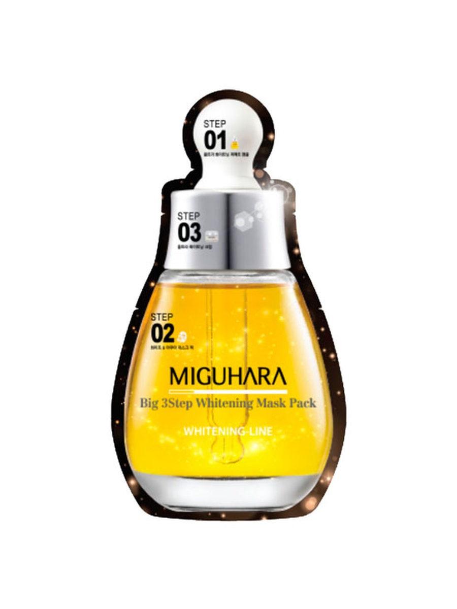 MIGUHARA трехэтапный комплекс Big3 Step Whitening Mask Pack, 28,7 мл