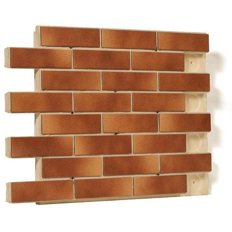 Клинкерная термопанель фасадная Регент, плитка Paradyz, цвет Aquarius Braun, толщина 40 мм