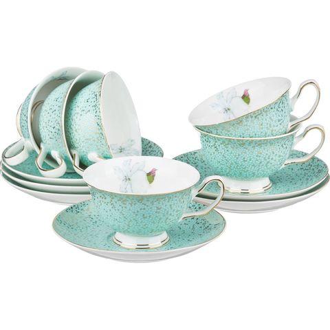 Чайный набор из фарфора на 6 персон 275-647