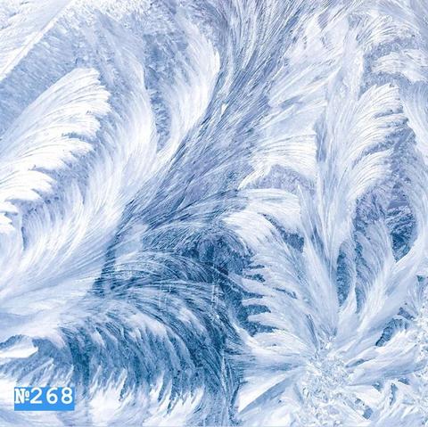 Фотофон виниловый «Белый зимний узор» №268