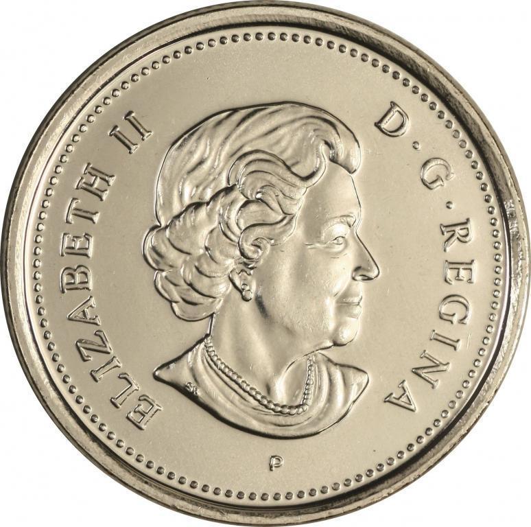 5 центов 2006 года. Бобр. Животные (P). Канада. UNC