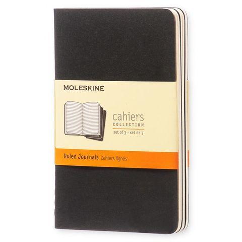 Блокнот Moleskine CAHIER JOURNAL QP311 Pocket 90x140мм обложка картон 64стр. линейка черный (3шт)