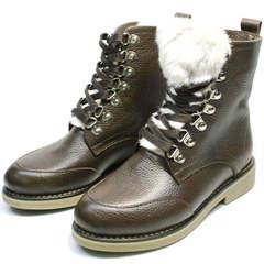 Зимние ботинки женские Studio27 576c Broun.