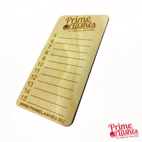 Планшет деревянный для ресниц Prime Lashes (5-15)