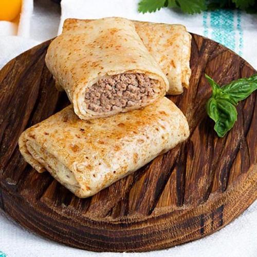 Фотография Блины с мясом (говядина/телятина) / 500 гр купить в магазине Афлора