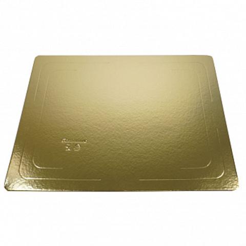 Подложка прямоугольная 30*22см (1,5мм) золото/белый