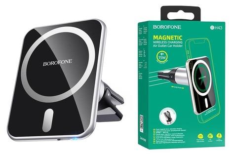 Автомобильный держатель Borofone Magnetic Air Wireless BH43 15W/black/
