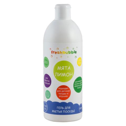 Levrana, Гель для мытья посуды Мята и Лимон freshbubble, 500мл