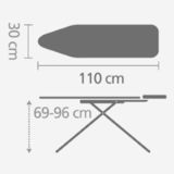 Гладильная доска 110 Х 30 см, артикул 410321, производитель - Brabantia, фото 2