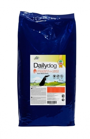 Сухой корм Dailydog Senior Medium&Large Breed для пожилых собак средних и крупных пород с индейкой и рисом 20 кг