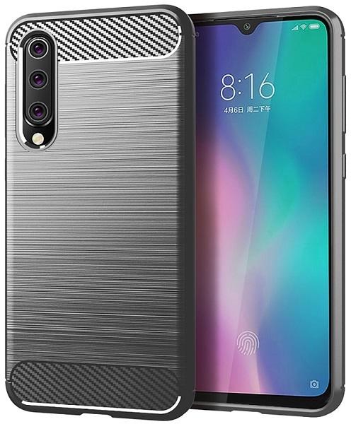 Чехол для Xiaomi Mi 9 SE цвет Gray (серый), серия Carbon от Caseport