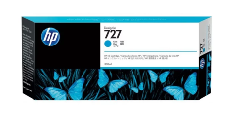 Оригинальный картридж струйный HP F9J76A (727), голубой