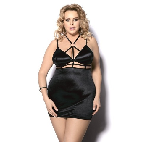 Черное эротичное мини платье Desita (BS) Sale